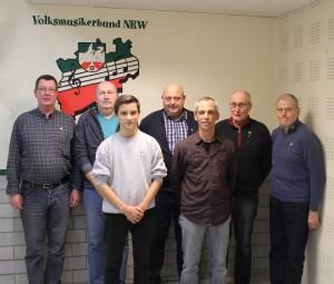 v.l Reinhold Wetzel, Uwe Kaminski, Timo Rebstock, Klaus Bachmann, Frank Rebstock, Peter Zächer, Klaus Lünstroth
